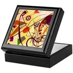 Kandinsky Red Blue Yellow Abstract Keepsake Box