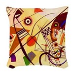 Kandinsky Red Blue Yellow Abstract Woven Throw Pil
