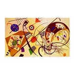Kandinsky Red Blue Yellow Abstract Area Rug