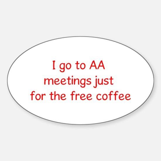 Coffee Lover Oval Sticker (10 pk)