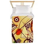 Kandinsky Red Blue Yellow Abstract Twin Duvet Cove