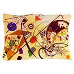 Kandinsky Red Blue Yellow Abstract Pillow Case