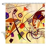 Kandinsky Red Blue Yellow Abstract Shower Curtain