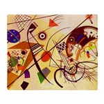 Kandinsky Red Blue Yellow Abstract Throw Blanket