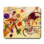 Kandinsky Red Blue Yellow Abstract Mousepad