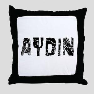 Aydin Faded (Black) Throw Pillow