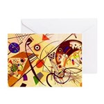 Kandinsky Red Blue Yellow Abstract Greeting Cards