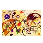 Kandinsky Red Blue Yellow Abstract Postcards (Pack