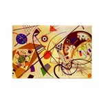 Kandinsky Red Blue Yellow Abstract Magnets