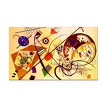 Kandinsky Red Blue Yellow Abstract Rectangle Car M