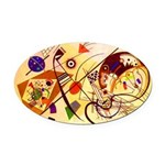 Kandinsky Red Blue Yellow Abstract Oval Car Magnet