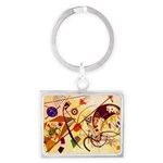 Kandinsky Red Blue Yellow Abstract Keychains