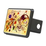 Kandinsky Red Blue Yellow Abstract Hitch Cover
