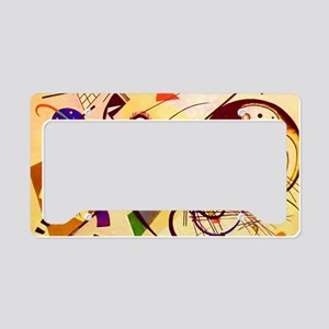 Kandinsky Red Blue Yellow Abstract License Plate H