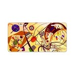 Kandinsky Red Blue Yellow Abstract Aluminum Licens