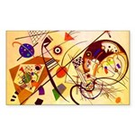 Kandinsky Red Blue Yellow Abstract Sticker