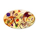 Kandinsky Red Blue Yellow Abstract Wall Decal