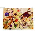 Kandinsky Red Blue Yellow Abstract Makeup Bag