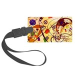 Kandinsky Red Blue Yellow Abstract Luggage Tag