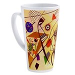 Kandinsky Red Blue Yellow Abstract 17 oz Latte Mug