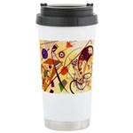 Kandinsky Red Blue Yellow Abstract Mugs