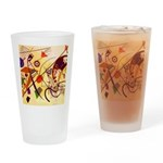 Kandinsky Red Blue Yellow Abstract Drinking Glass