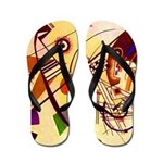 Kandinsky Red Blue Yellow Abstract Flip Flops