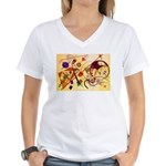Kandinsky Red Blue Yellow Abstract T-Shirt