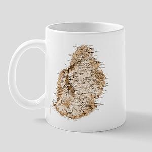 Mauritius map 2 Mug