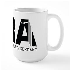 Frankfurt Germany FRA Airport Code Large Mug