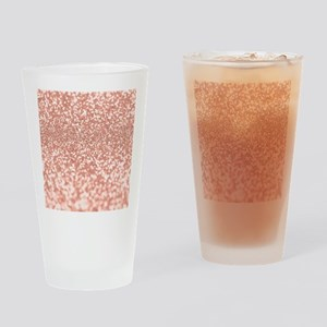 Rose Gold Faux Glitter Drinking Glass