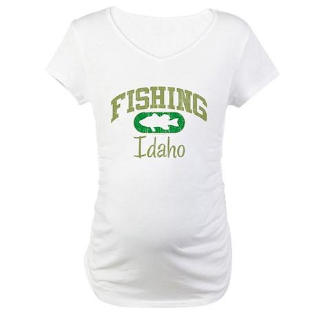 FISHING IDAHO Maternity T-Shirt