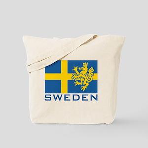 Sweden Flag Tote Bag