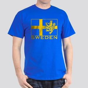 Sweden Flag Dark T-Shirt
