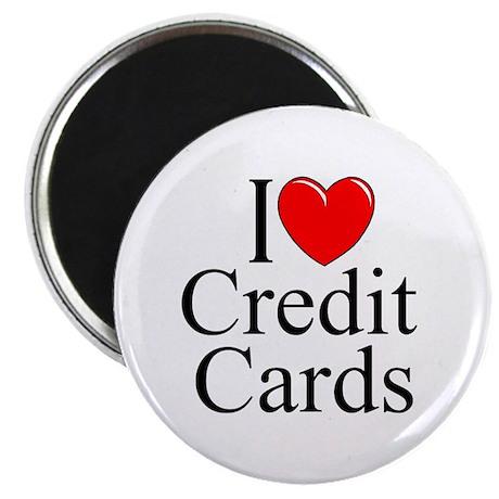 """I Love (Heart) Credit Cards"" Magnet"