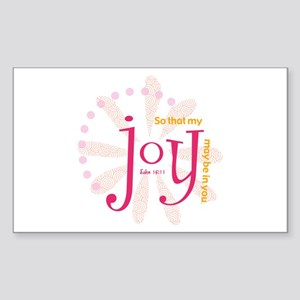 Joy Rectangle Sticker
