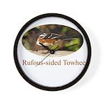 Rufous-sided Towhee Wall Clock