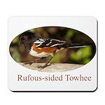 Rufous-sided Towhee Mousepad