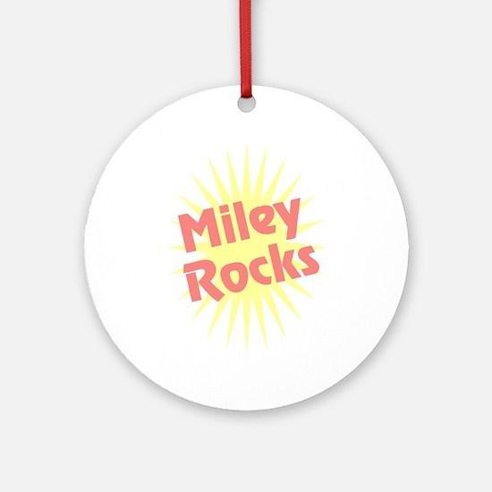 Miley Rocks Ornament (Round)