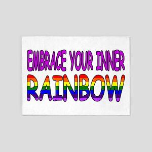 EMBRACE YOUR INNER RAINBOW 5'x7'Area Rug