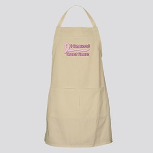 I Conquered Breast Cancer BBQ Apron