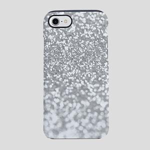 Silver Faux Glitter iPhone 8/7 Tough Case