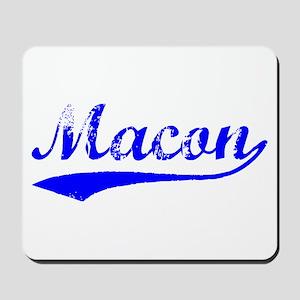 Vintage Macon (Blue) Mousepad