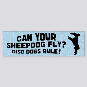Disc Old English Sheepdog Bumper Sticker