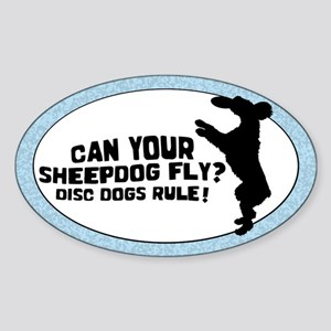 Disc Old English Sheepdog Oval Sticker