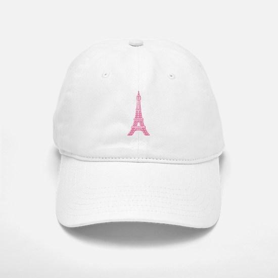 Pink Eiffel Tower Baseball Baseball Cap