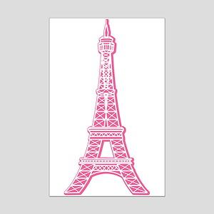Pink Eiffel Tower Mini Poster Print