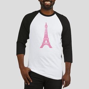Pink Eiffel Tower Baseball Jersey