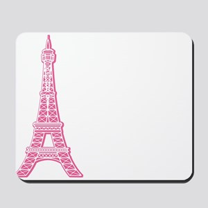 Pink Eiffel Tower Mousepad