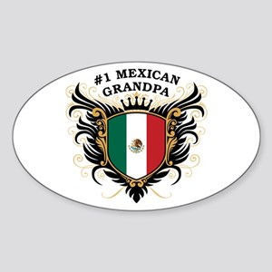 Number One Mexican Grandpa Oval Sticker